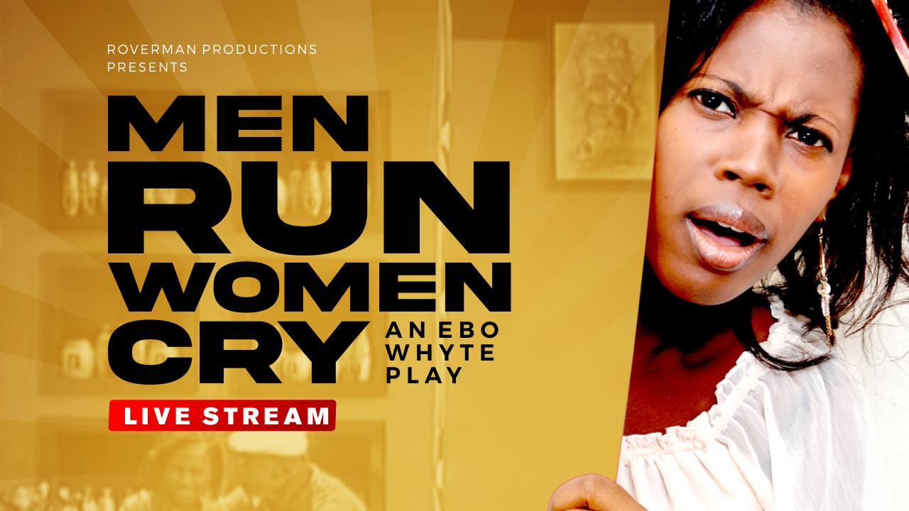 men run woman cry